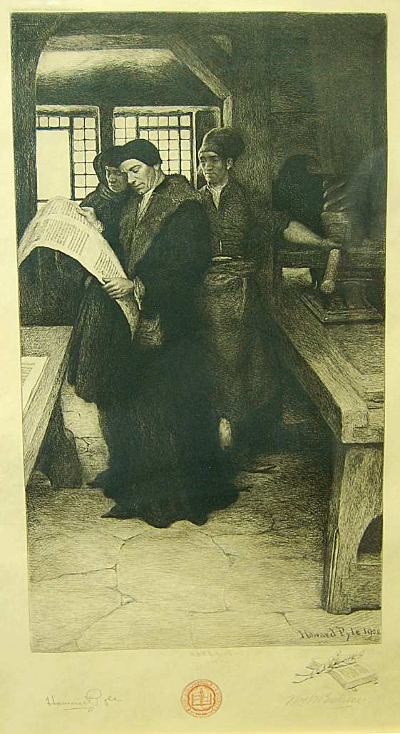Figure 5. Caxton at his press