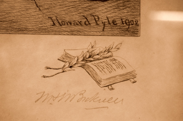 Figure 6. Bicknell's signature and drawing by Pyle